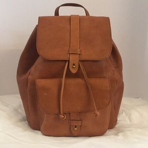 Madewell Transport Rucksack in English Saddle